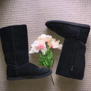 Bjorndal black warm fuzzy winter boots